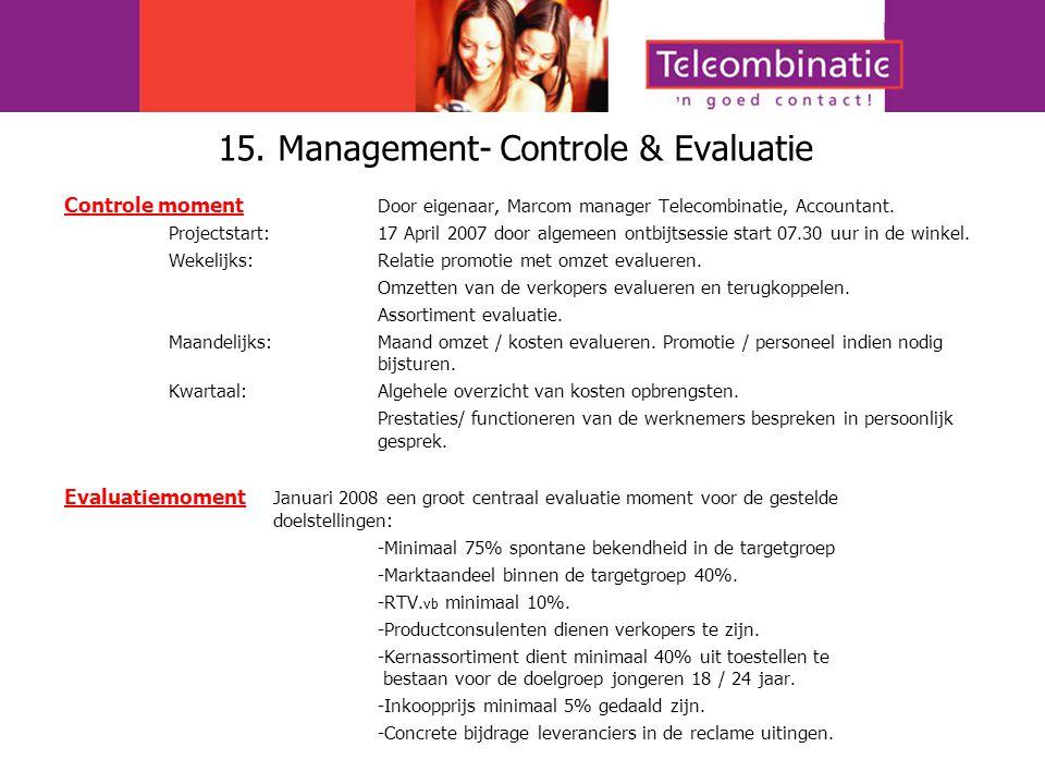 15. Management- Controle & Evaluatie