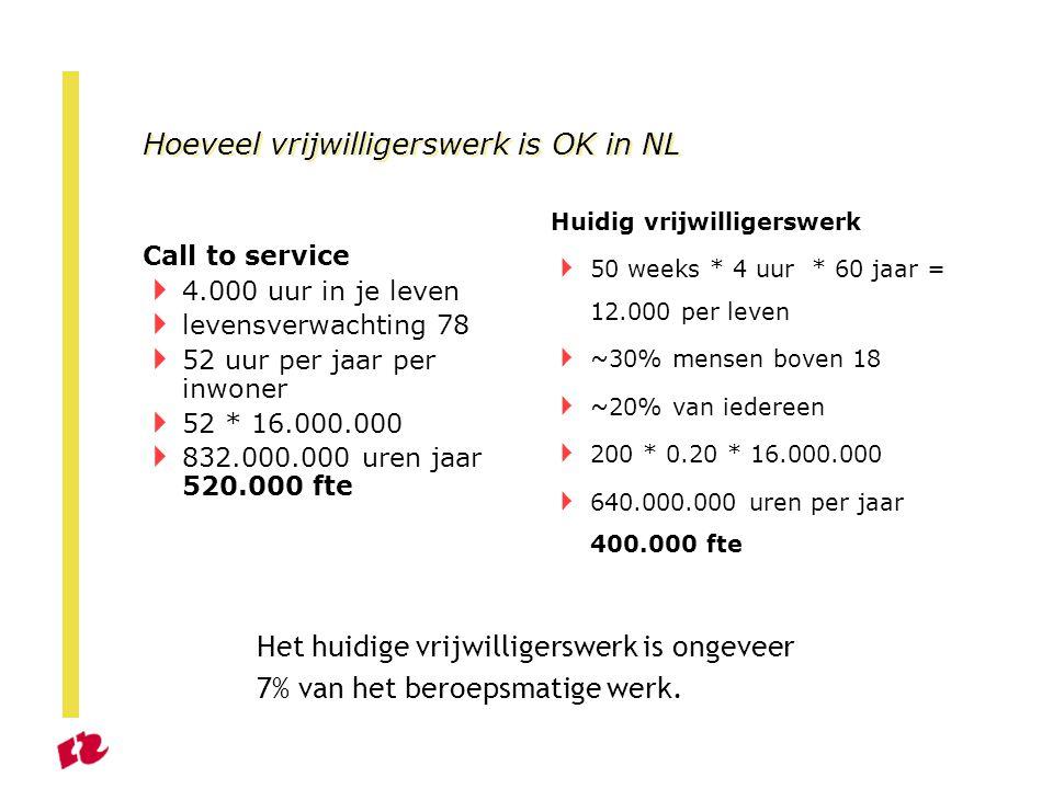 Hoeveel vrijwilligerswerk is OK in NL