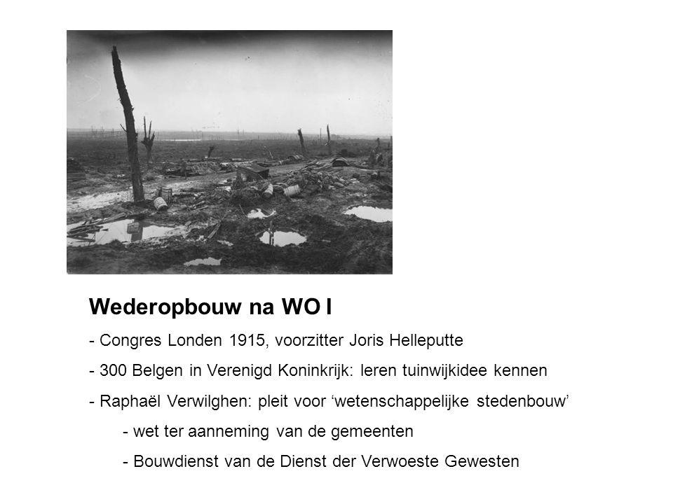 Wederopbouw na WO I Congres Londen 1915, voorzitter Joris Helleputte