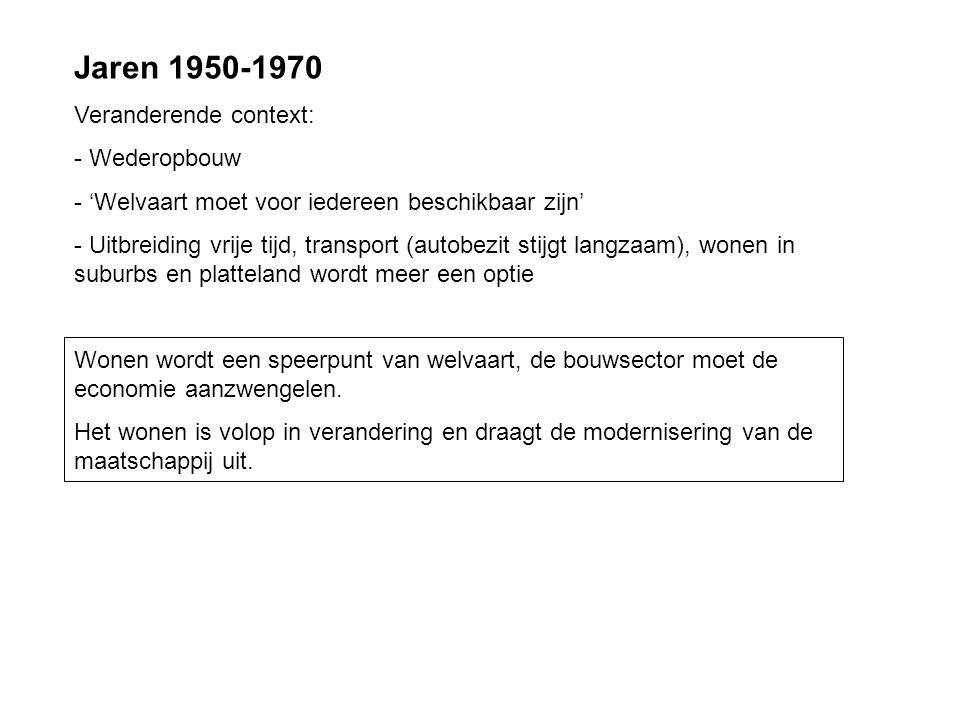 Jaren 1950-1970 Veranderende context: Wederopbouw