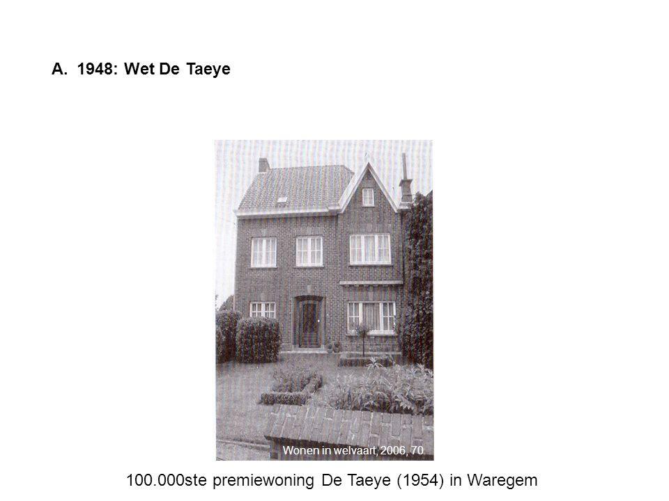 100.000ste premiewoning De Taeye (1954) in Waregem