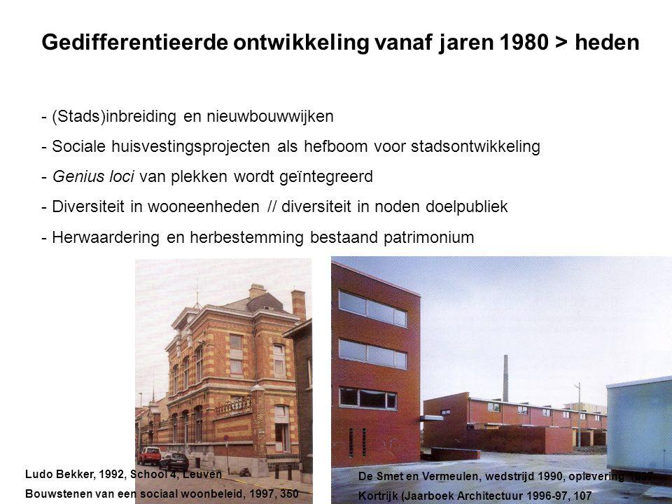 Gedifferentieerde ontwikkeling vanaf jaren 1980 > heden