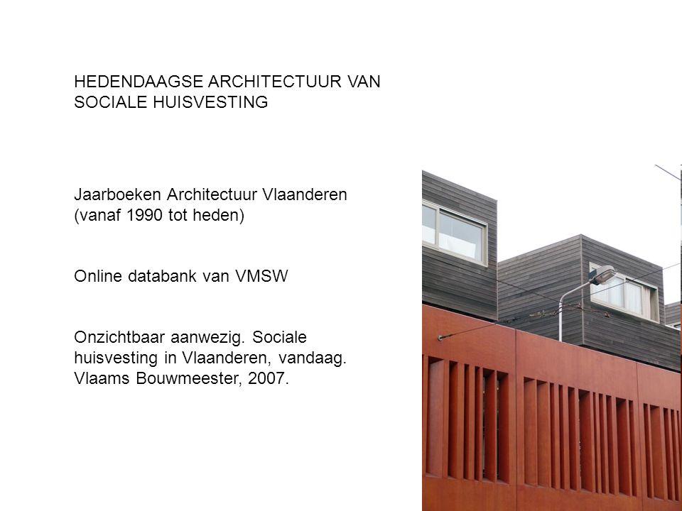 HEDENDAAGSE ARCHITECTUUR VAN SOCIALE HUISVESTING