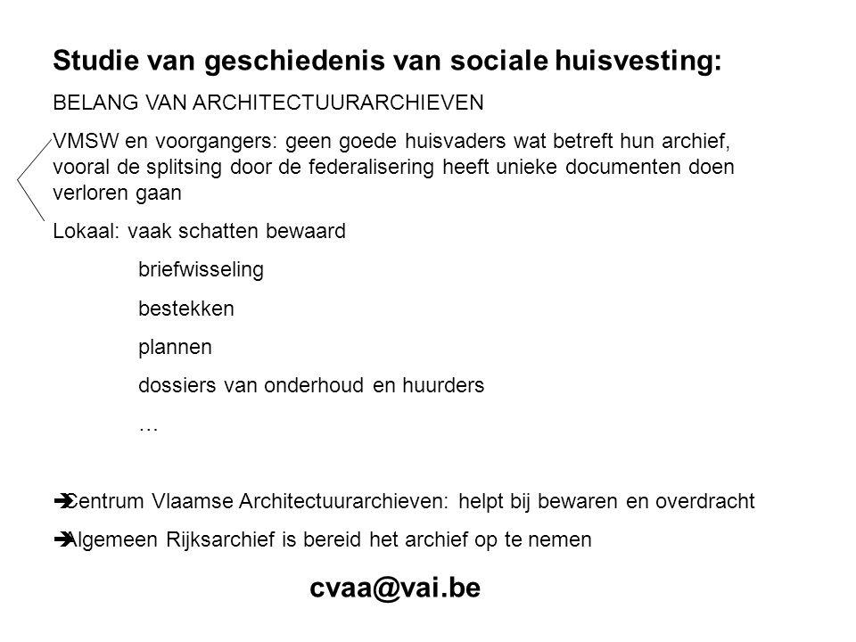 Studie van geschiedenis van sociale huisvesting: