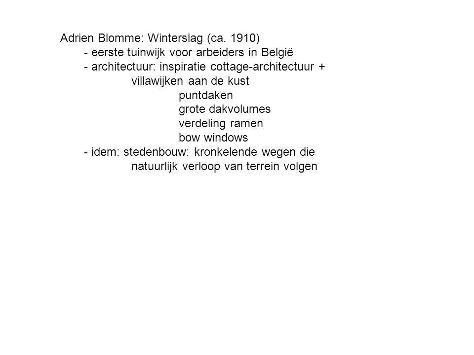 Adrien Blomme: Winterslag (ca. 1910)
