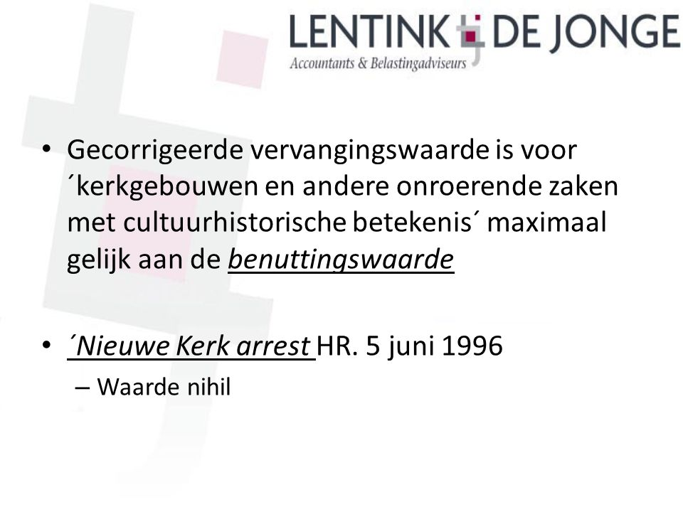´Nieuwe Kerk arrest HR. 5 juni 1996