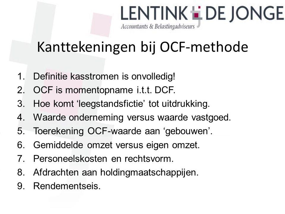 Kanttekeningen bij OCF-methode