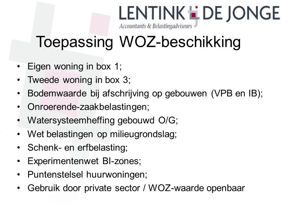 Toepassing WOZ-beschikking