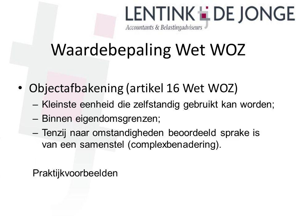Waardebepaling Wet WOZ
