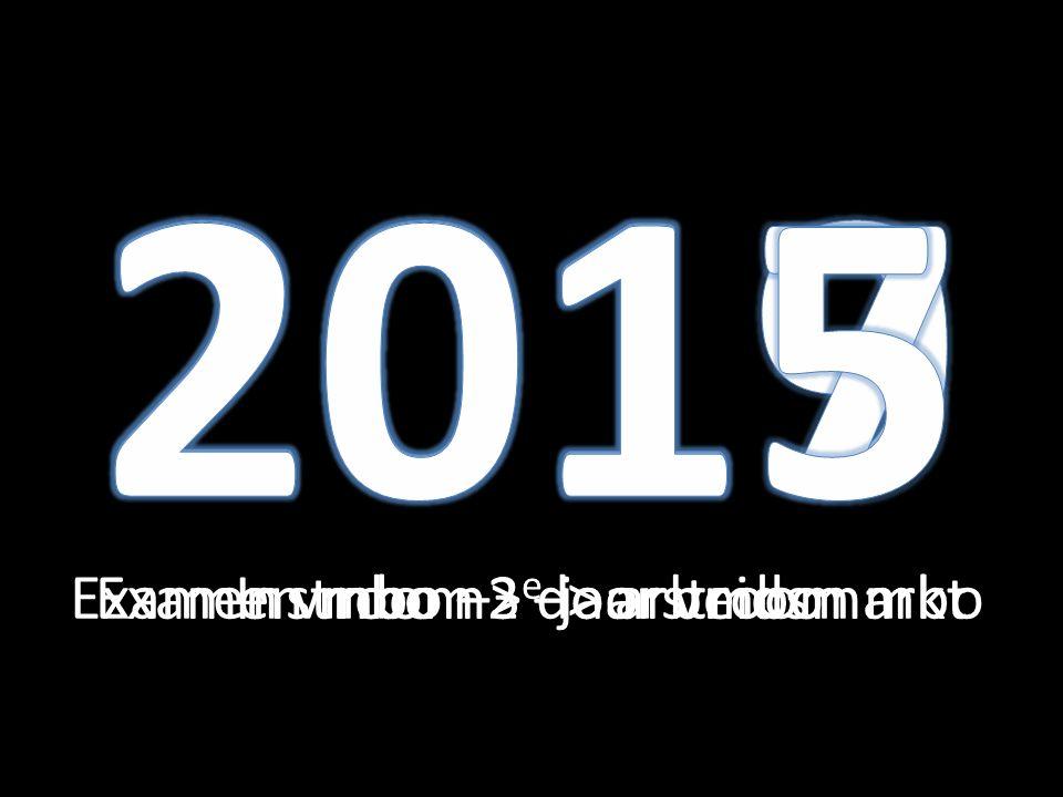 2017 2015 2019 Examen vmbo –> doorstroom mbo