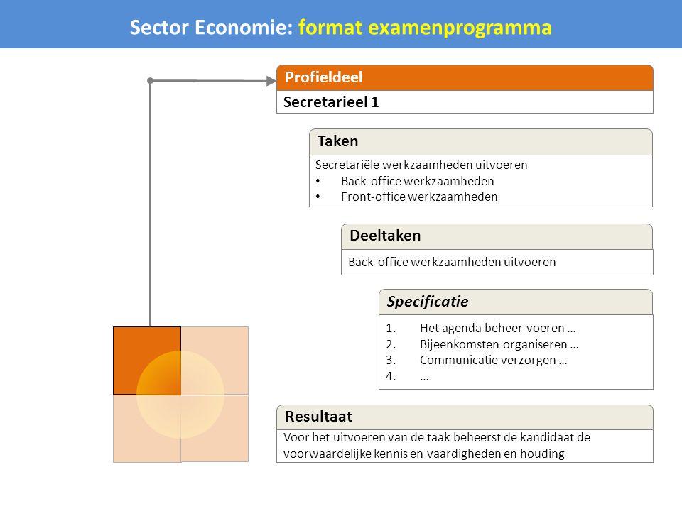 Sector Economie: format examenprogramma