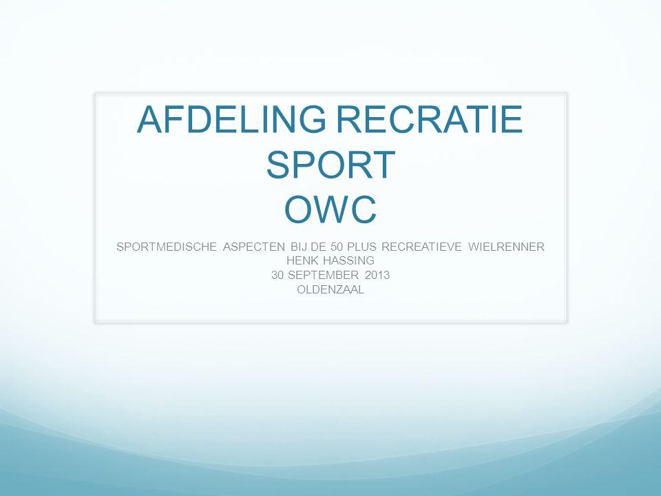 AFDELING RECRATIE SPORT OWC