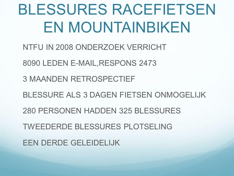 BLESSURES RACEFIETSEN EN MOUNTAINBIKEN