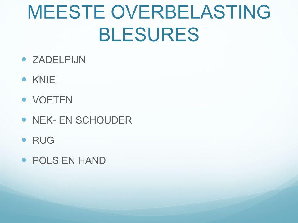 MEESTE OVERBELASTING BLESURES