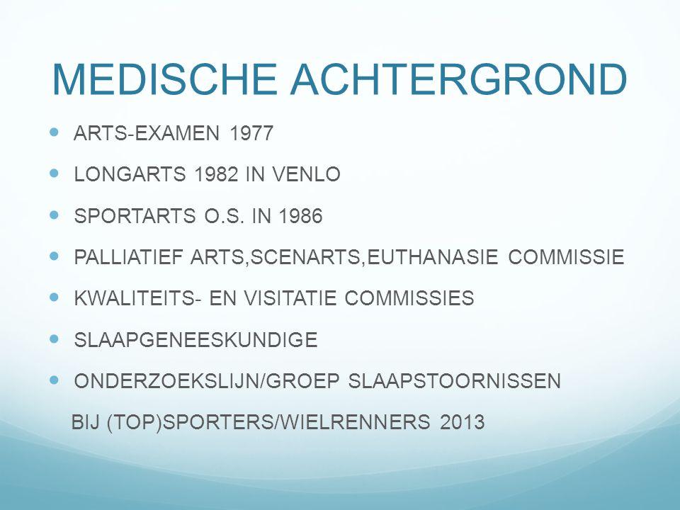 MEDISCHE ACHTERGROND ARTS-EXAMEN 1977 LONGARTS 1982 IN VENLO