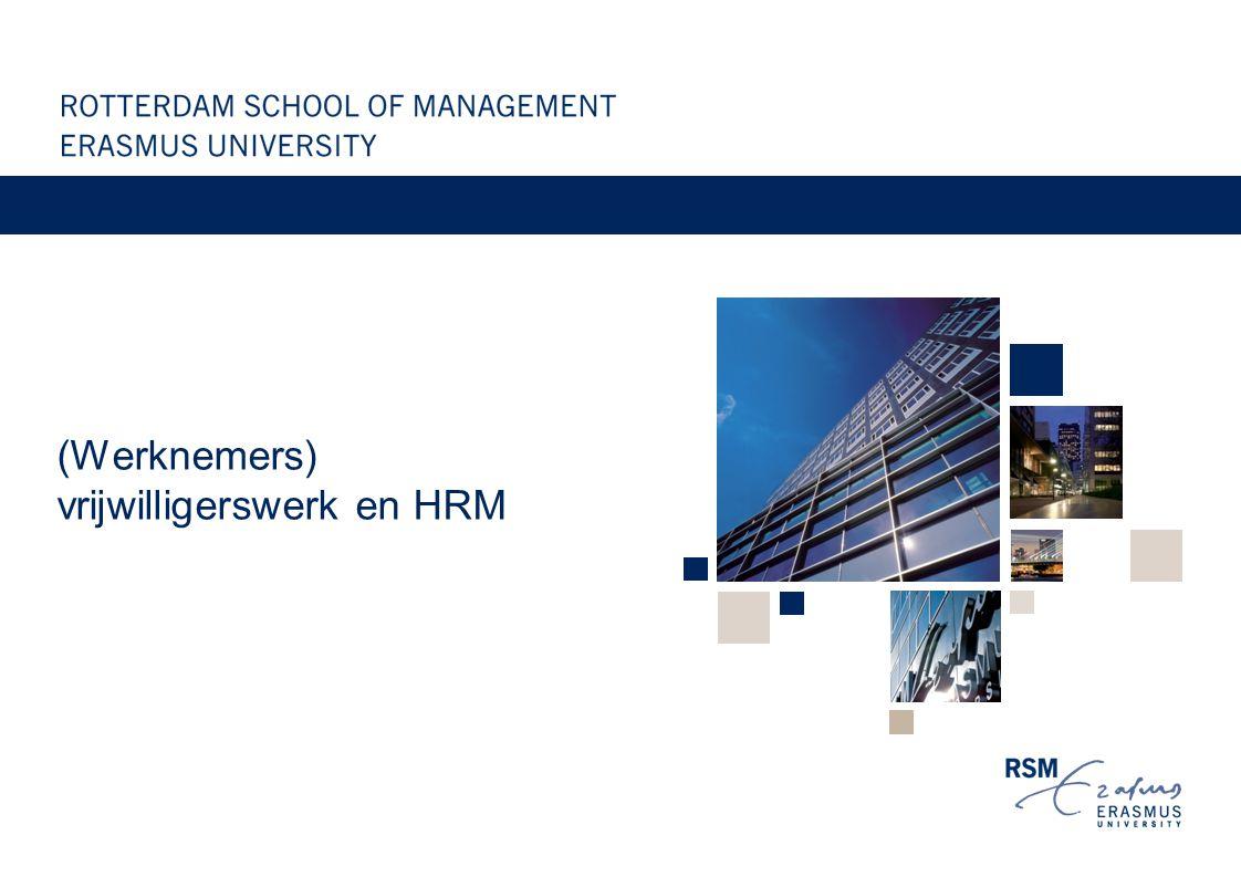 (Werknemers) vrijwilligerswerk en HRM