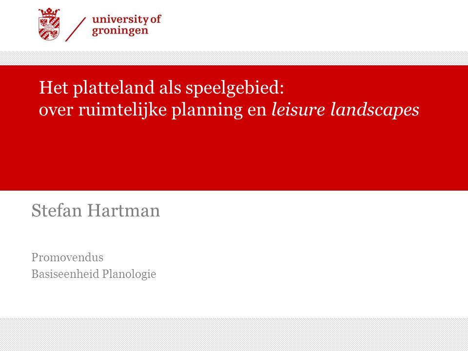 Stefan Hartman Promovendus Basiseenheid Planologie
