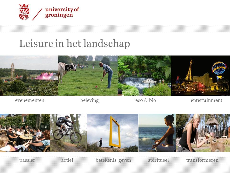 Leisure in het landschap