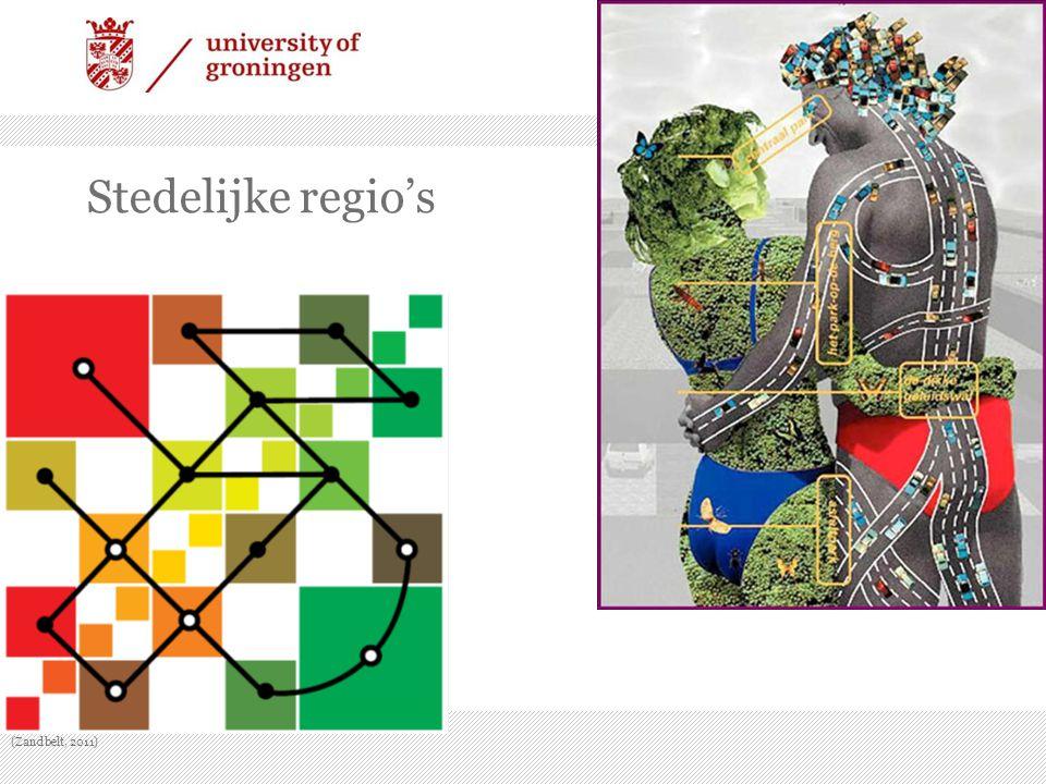 Stedelijke regio's (Zandbelt, 2011)