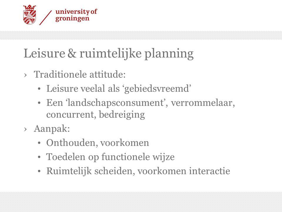 Leisure & ruimtelijke planning