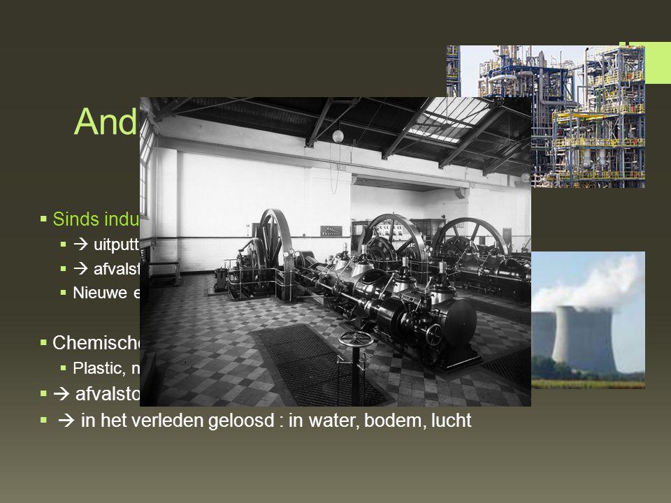 Andere levenswijze Sinds industriële revolutie: gebruik machines