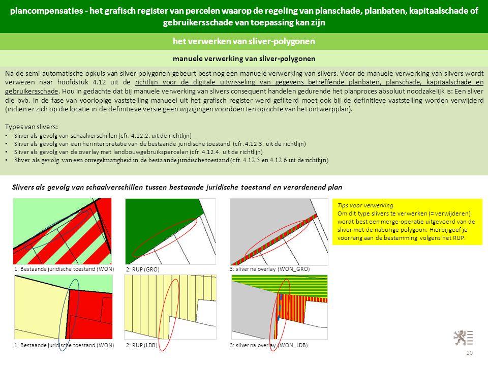 het verwerken van sliver-polygonen