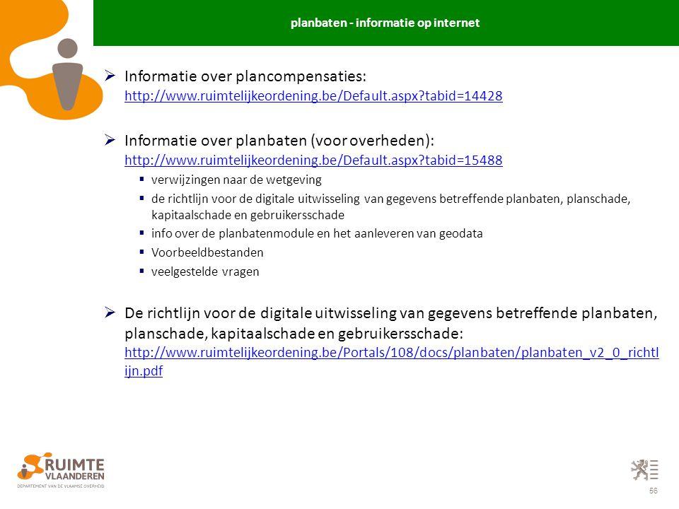 planbaten - informatie op internet