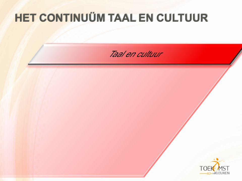 Het continuüm taal en cultuur