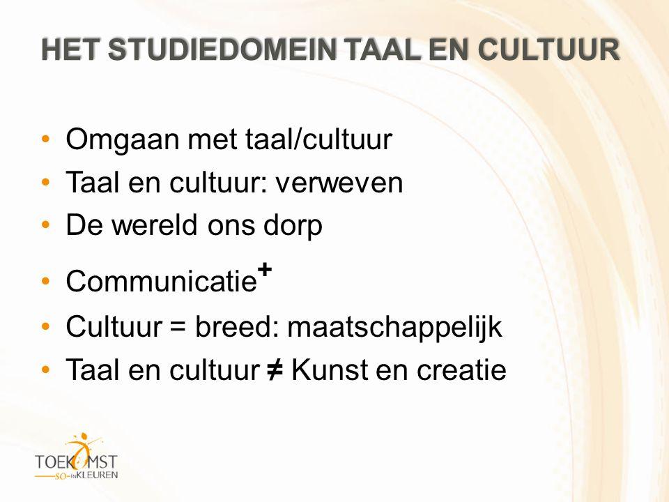 het studiedomein Taal en cultuur