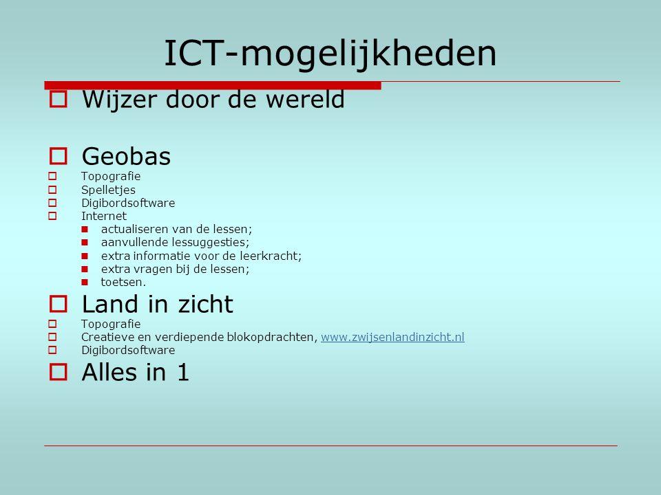 ICT-mogelijkheden Wijzer door de wereld Geobas Land in zicht