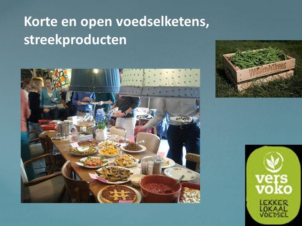 Korte en open voedselketens, streekproducten