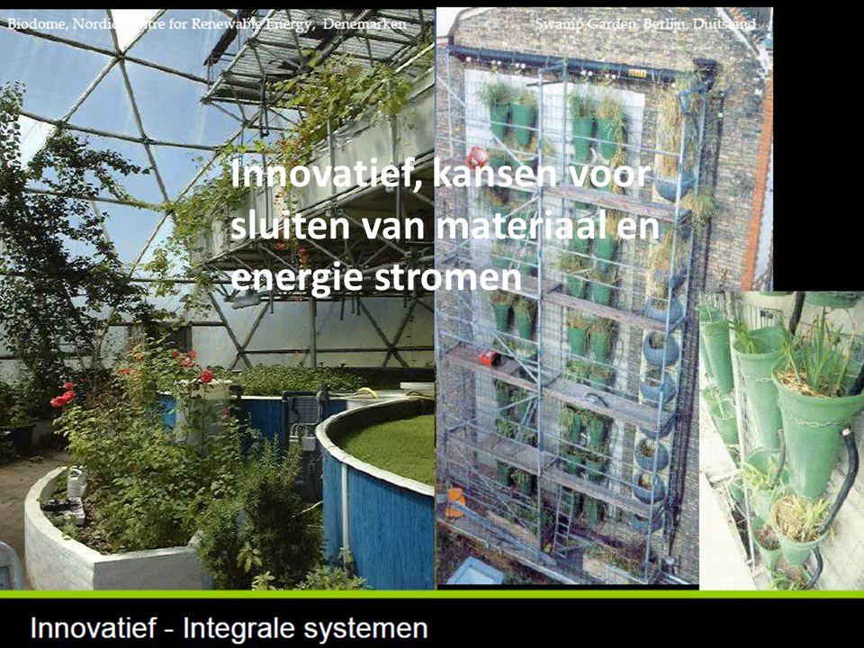 Innovatief, kansen voor sluiten van materiaal en energie stromen