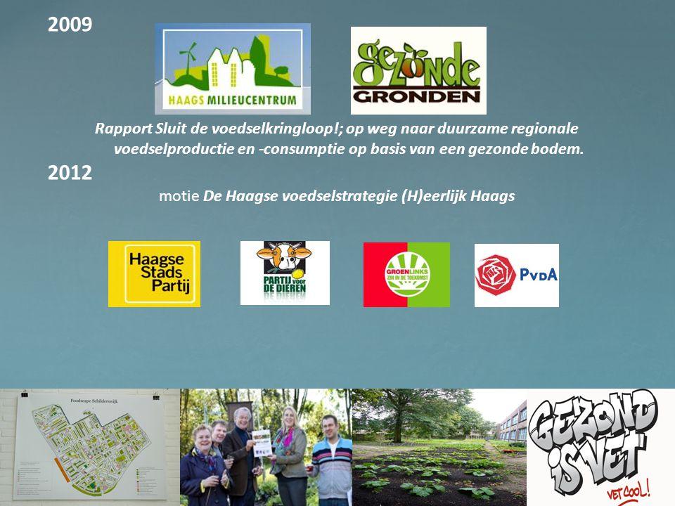 motie De Haagse voedselstrategie (H)eerlijk Haags