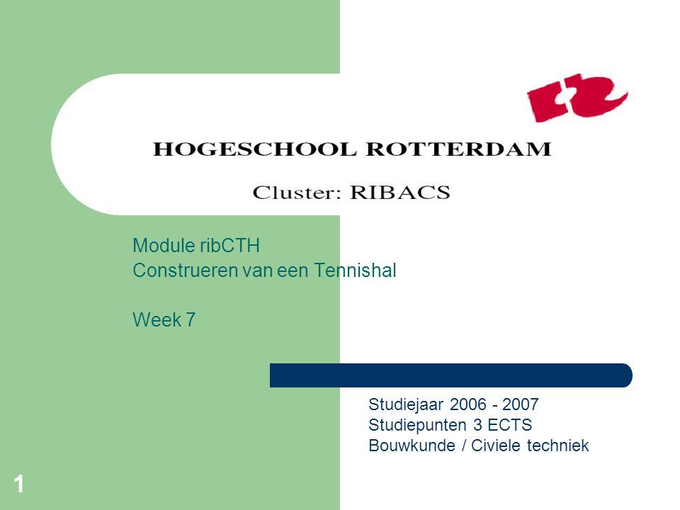 Module ribCTH Construeren van een Tennishal Week 7