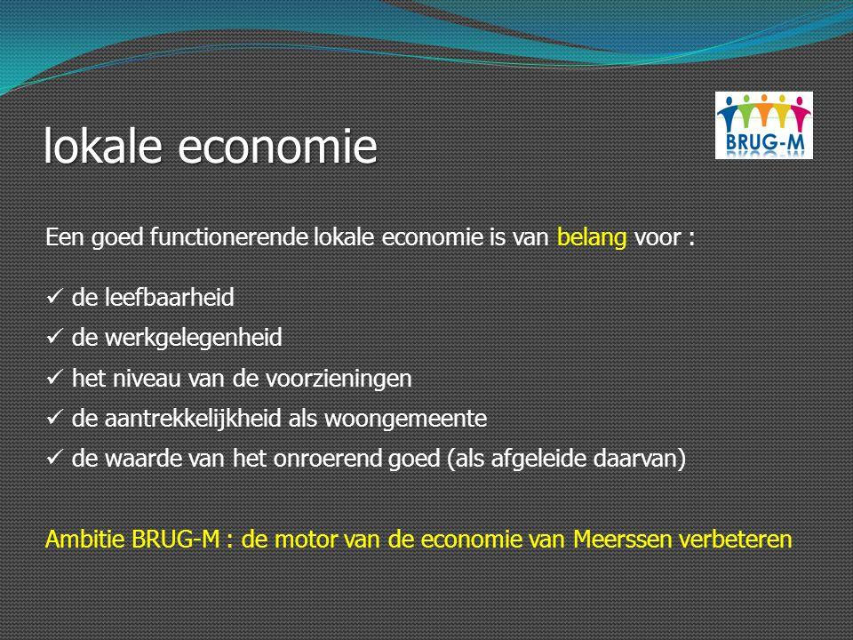 lokale economie Een goed functionerende lokale economie is van belang voor : de leefbaarheid. de werkgelegenheid.