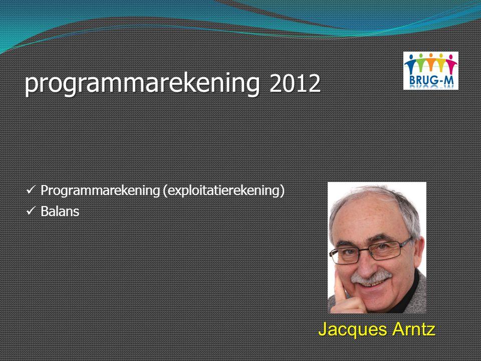 programmarekening 2012 Jacques Arntz