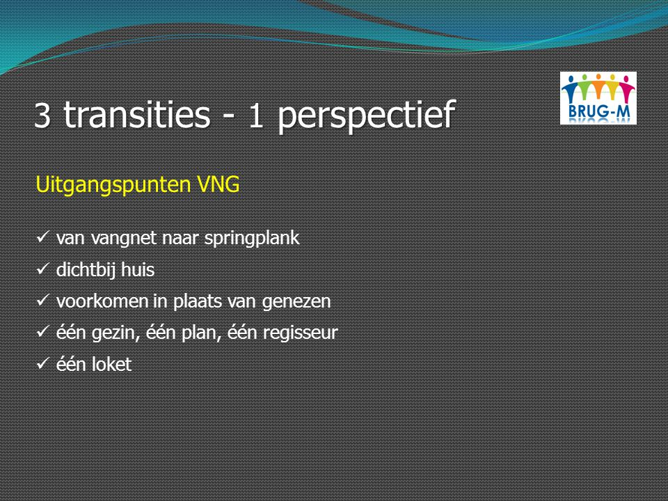 3 transities - 1 perspectief