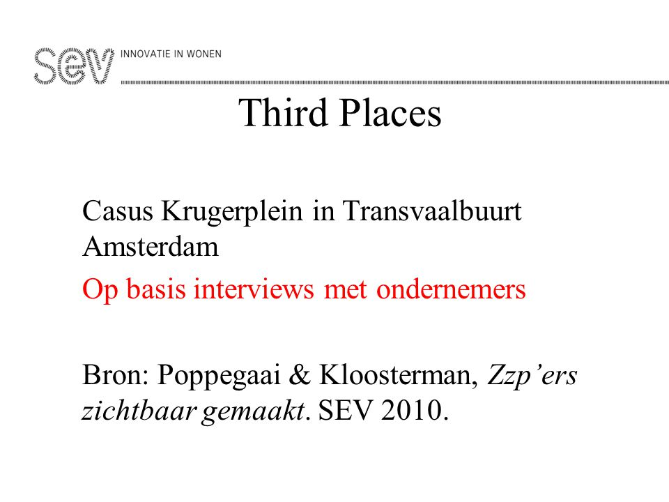 Third Places Casus Krugerplein in Transvaalbuurt Amsterdam