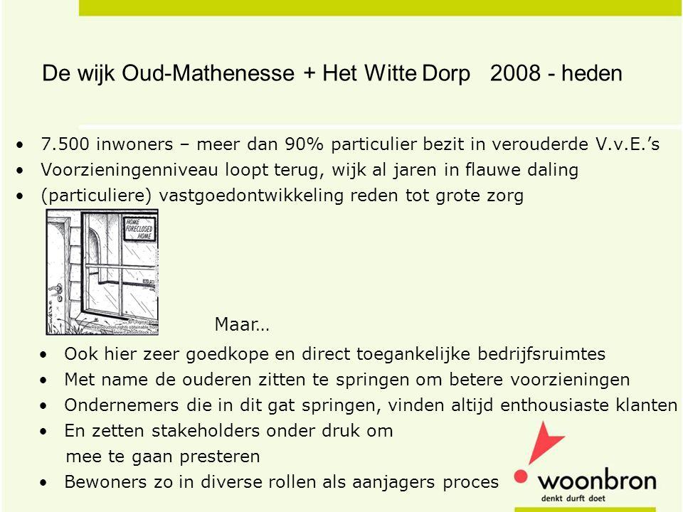 De wijk Oud-Mathenesse + Het Witte Dorp 2008 - heden