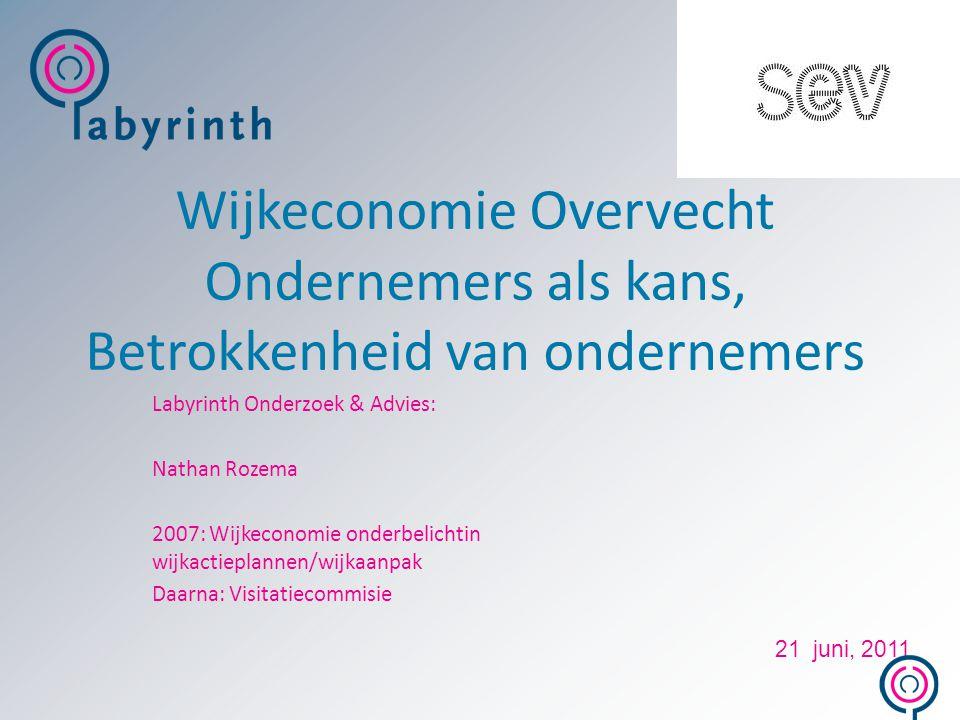 Wijkeconomie Overvecht Ondernemers als kans, Betrokkenheid van ondernemers