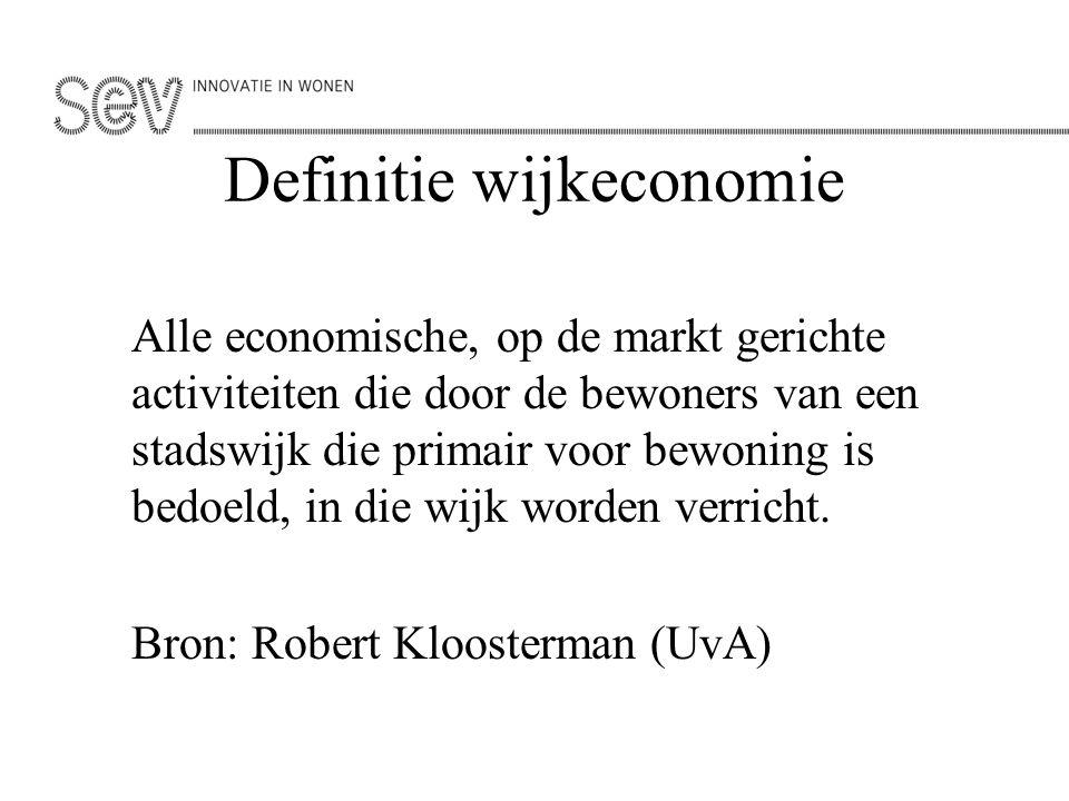 Definitie wijkeconomie