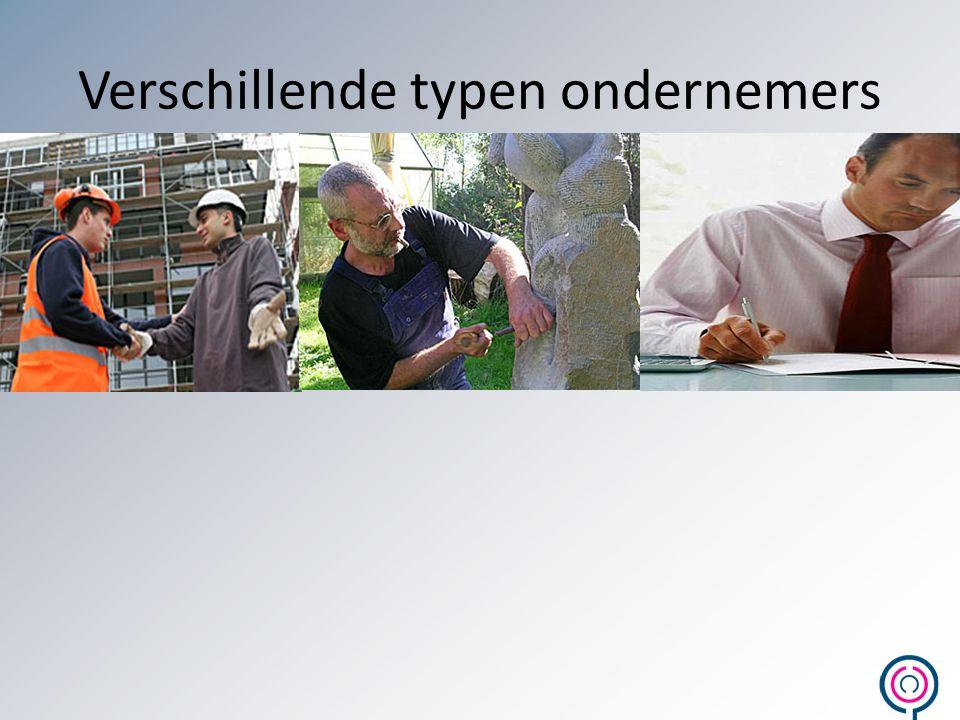 Verschillende typen ondernemers