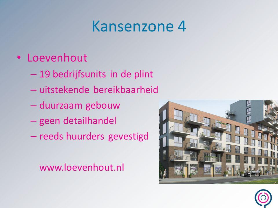 Kansenzone 4 Loevenhout 19 bedrijfsunits in de plint
