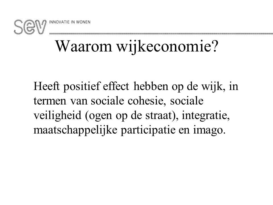 Waarom wijkeconomie