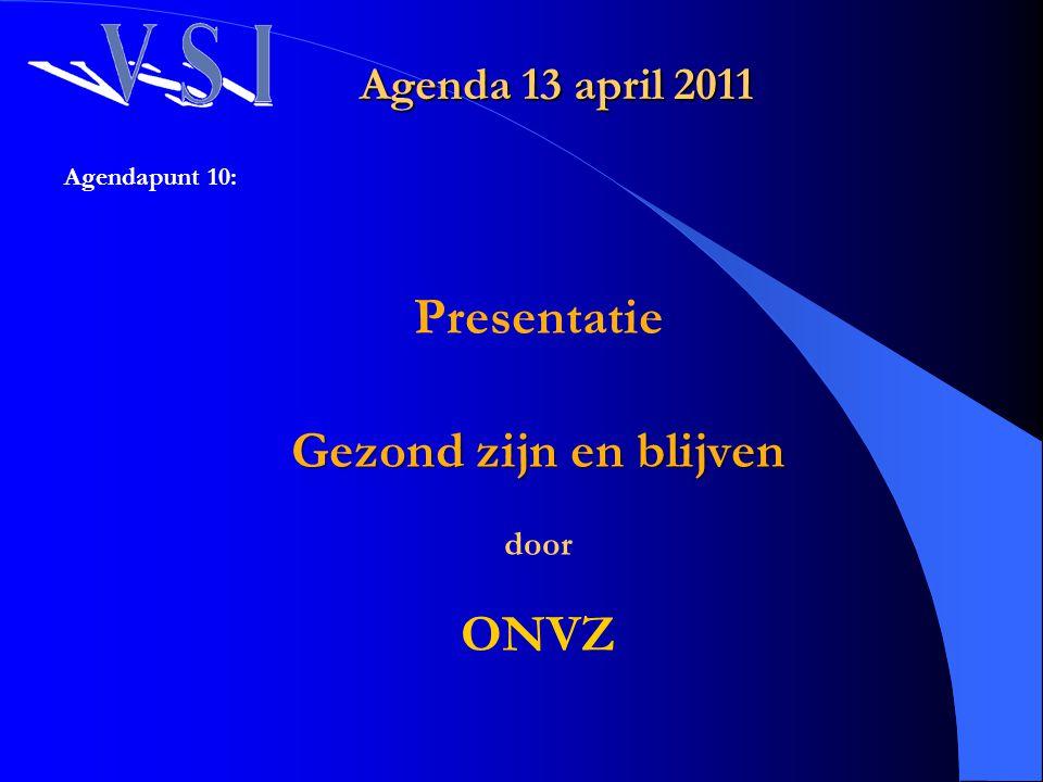 Presentatie Gezond zijn en blijven ONVZ