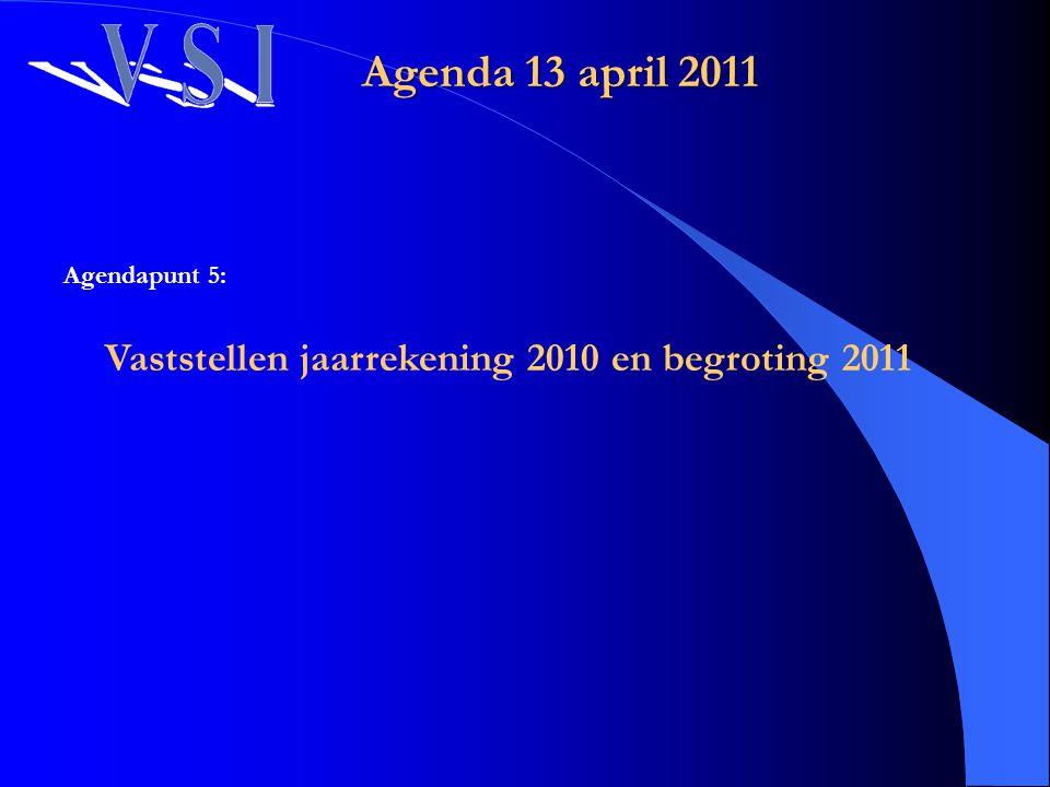 Vaststellen jaarrekening 2010 en begroting 2011