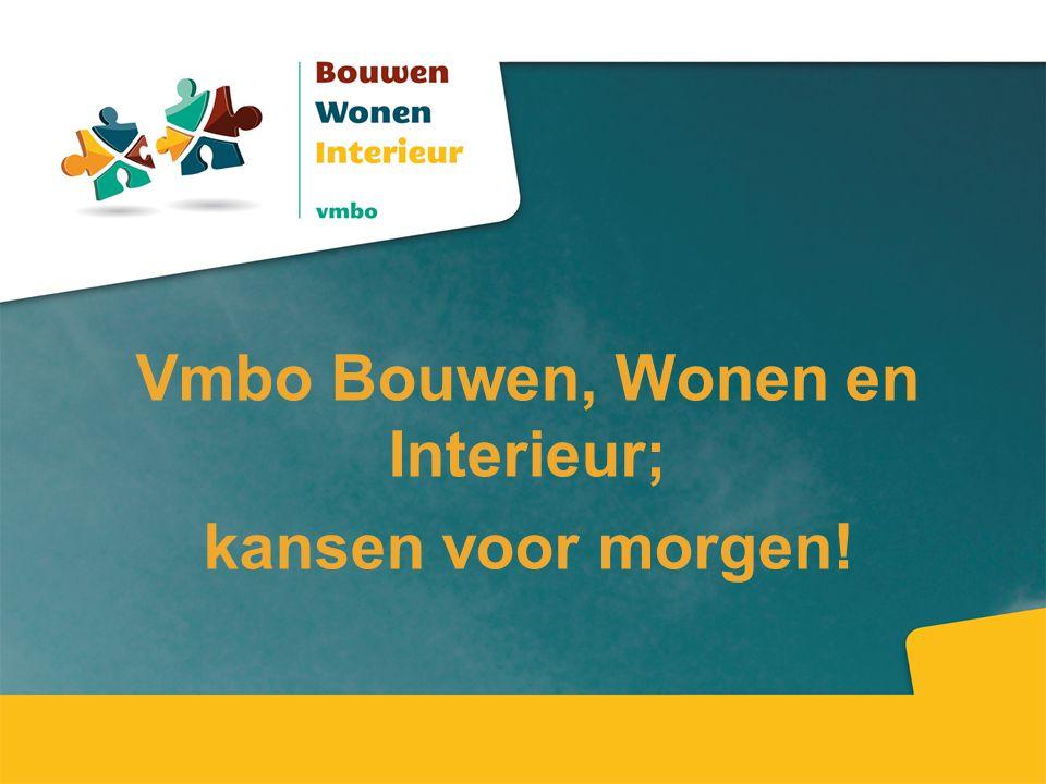 Vmbo Bouwen, Wonen en Interieur; kansen voor morgen!