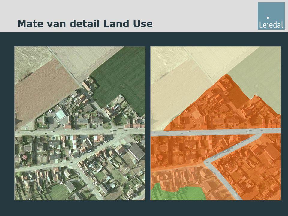 Mate van detail Land Use