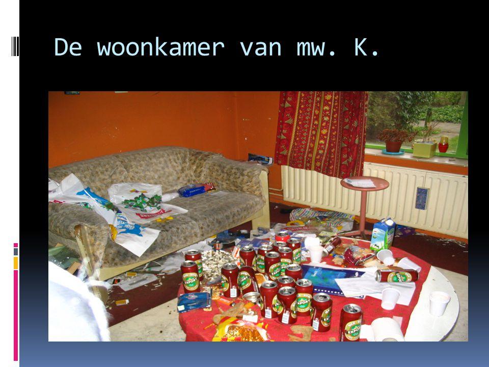 De woonkamer van mw. K.