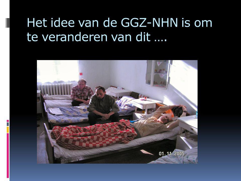 Het idee van de GGZ-NHN is om te veranderen van dit ….